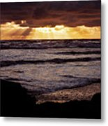 Sunset At Ruby Beach Metal Print