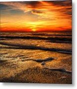 Sunset At Saint Petersburg Beach Metal Print