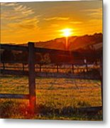 Sunset At Scartaglen Ireland Metal Print