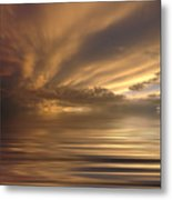 Sunset At Sea Metal Print