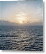 Sunset At Sea Metal Print