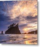 Sunset At Second Beach Metal Print