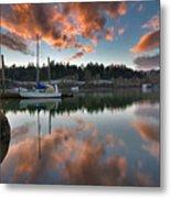 Sunset At Sellwood Riverfront Park Metal Print