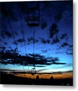 Sunset At Smugglers' Notch, Vermont - Portrait Metal Print