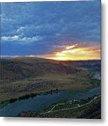 Sunset At Snake River Canyon 1 Metal Print