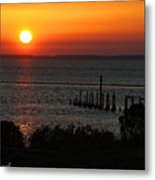 Sunset At St.marks Nwf Metal Print
