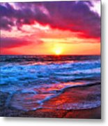 Sunset At Strands Beach Metal Print