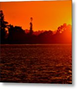 Sunset At Swan River II Metal Print