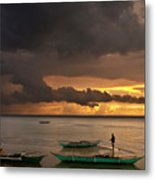 Sunset At Tabuena Beach 2 Metal Print