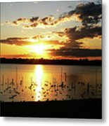 Sunset At The Bath House Metal Print