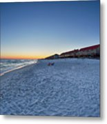 Sunset At The Beach In Florida Metal Print
