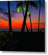 Sunset At The Big Island Of Hawaii Metal Print