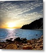 Sunset At The Black Sea Coast. Crimea Metal Print