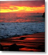 Sunset At The Bu Metal Print