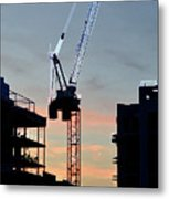 Sunset At The Construction Site 3  Metal Print