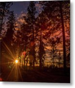 Sunset At The End Of The Hike Metal Print
