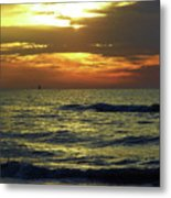 Sunset At The Gulf Metal Print