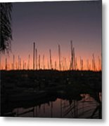 Sunset At The Marina Metal Print