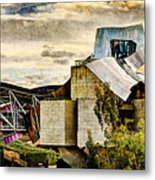 sunset at the marques de riscal Hotel - frank gehry - vintage version Metal Print