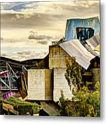 sunset at the marques de riscal Hotel - frank gehry Metal Print