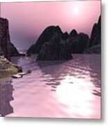 Sunset At The Ocean Metal Print