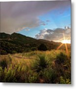 Sunset At The Old Divide Metal Print