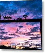 Sunset At The Ranch Metal Print