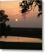 Sunset At The Southern Star Ranch Metal Print