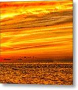 Sunset At The Ss Atlantus - Pano Metal Print