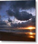 Sunset At The Strand Metal Print