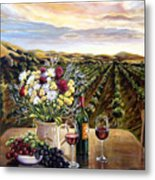 Sunset At The Vineyards Metal Print