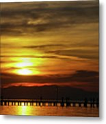 Sunset At Thessaloniki Metal Print