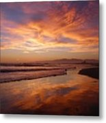 Sunset At Venice Beach Metal Print