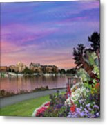 Sunset At Victoria Bc  Inner Harbour Metal Print