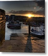 Sunset At West Bay Harbour Metal Print