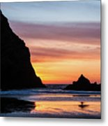 Sunset At Whalehead Beach Metal Print