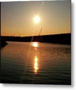 Sunset At Wolf Creek Dam Metal Print