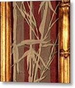 Sunset Bamboo With Frame Metal Print