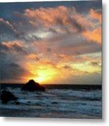 Sunset Bandon By The Sea Metal Print