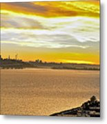 Sunset Bay Metal Print by Kelley King