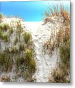 Sunset Beach Dune Path Metal Print