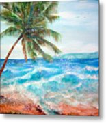 Sunset Beach Hawaii Metal Print