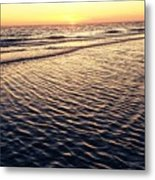 Sunset Beach In Florida Paradise Metal Print