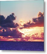 Sunset Behind Clouds Metal Print