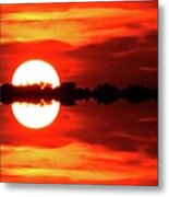 Sunset Behind The Trees At Kempenfelt Bay Two  Metal Print