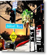 Sunset Blvd Meets Sunset Metal Print