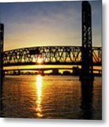 Sunset Bridge 1 Metal Print