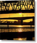 Sunset Bridge 2 Metal Print