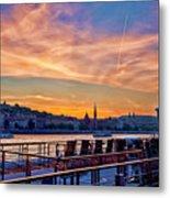 Sunset Budapest Metal Print
