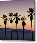 Sunset By La Metal Print